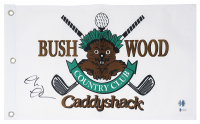 """Chevy Chase Signed """"Caddyshack"""" Bushwood Country Club Golf Pin Flag (Beckett COA & Chase Hologram) at PristineAuction.com"""