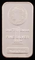 "1 Troy Ounce .999 Fine Silver ""Morgan"" Commemorative Bullion Bar at PristineAuction.com"
