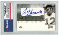 Joe Namath 2001 UD Game Gear Autographs #JNGS (Fanatics Encapsulated) at PristineAuction.com
