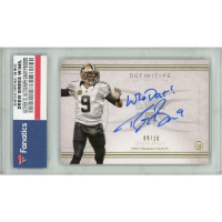 Drew Brees 2015 Topps Definitive Collection Autograph Inscriptions #AICDB (Fanatics Encapsulated) at PristineAuction.com