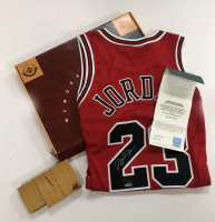 Michael Jordan Signed Bulls LE Jersey with Final Game Floor Peice (UDA COA) at PristineAuction.com