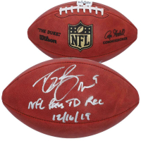 "Drew Brees Signed Official NFL ""The Duke"" Game Ball Inscribed ""NFL Pass TD Record 12/16/19"" (Fanatics Hologram) at PristineAuction.com"