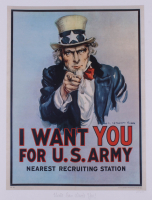 """Historical Photo Archive - """"Uncle Sam Wants You"""" Limited Edition 16.5x22 Fine Art Giclee on Paper #26/375 (PA LOA) at PristineAuction.com"""