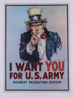 "Historical Photo Archive - ""Uncle Sam Wants You"" Limited Edition 16.5x22 Fine Art Giclee on Paper #27/375 (PA LOA) at PristineAuction.com"