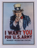 "Historical Photo Archive - ""Uncle Sam Wants You"" Limited Edition 16.5x22 Fine Art Giclee on Paper #28/375 (PA LOA) at PristineAuction.com"