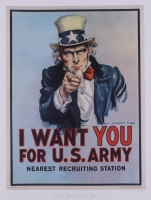 """Historical Photo Archive - """"Uncle Sam Wants You"""" Limited Edition 16.5x22 Fine Art Giclee on Paper #30/375 (PA LOA) at PristineAuction.com"""