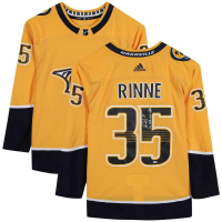"Pekka Rinne Signed Predators Jersey Inscribed ""1st NHL Goal 1/9/20"" (Fanatics Hologram) at PristineAuction.com"
