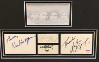 """""""The Highwaymen"""" 18x22 Custom Framed Cut Display Signed by (4) with Johnny Cash, Waylon Jennings, Kris Kristofferson & Willie Nelson (JSA COA & PSA LOA) at PristineAuction.com"""