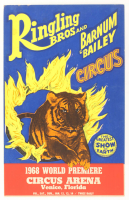 Vintage 1968 Ringling Bros And Barnium Bailey Circus 14x22 Promotional Poster at PristineAuction.com