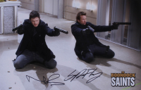 "Norman Reedus & Sean Patrick Flanery Signed ""The Boondock Saints"" 11x17 Poster (JSA COA) at PristineAuction.com"