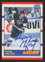 Wayne Gretzky Signed 1990-91 Score #338 Magic (JSA COA) at PristineAuction.com