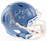 """Earl Campbell Signed Oilers Full-Size Hydro-Dipped Speed Helmet Inscribed """"HOF 91"""" (JSA COA) at PristineAuction.com"""