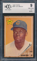 Lou Brock 1962 Topps #387 RC (BCCG 9) at PristineAuction.com
