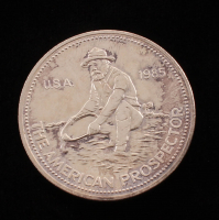 "1985 1 Troy Ounce .999 Silver ""The American Prospector"" Bullion Round at PristineAuction.com"