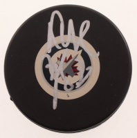 Dustin Byfuglien Signed Jets Logo Hockey Puck (JSA COA) at PristineAuction.com