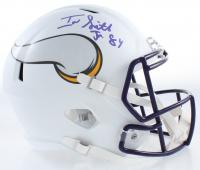 Irv Smith Jr. Signed Vikings Full-Size Matte White Speed Helmet (JSA COA) at PristineAuction.com