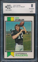 Ken Stabler 1973 Topps #487 RC (BCCG 8) at PristineAuction.com