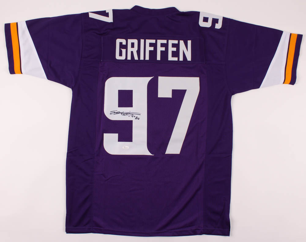 "Everson Griffen Signed Jersey Inscribed ""EG"" (JSA COA) at PristineAuction.com"