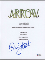 """Emily Bett Rickards Signed """"Arrow"""" Episode Script Cover Page (Beckett COA) at PristineAuction.com"""