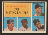 1961 Topps #41 NL Batting Leaders / Dick Groat / Norm Larker / Willie Mays / Roberto Clemente at PristineAuction.com