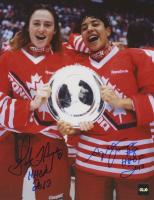 "Geraldine Heaney & Angela James Signed Team Canada 8x10 Photo Inscribed ""HOF 2013"" & ""HOF 2010"" (COJO COA) at PristineAuction.com"