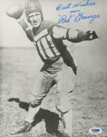 """Red Grange Signed Bears 8x10 Photo Inscribed """"Best Wishes From"""" (PSA COA) at PristineAuction.com"""