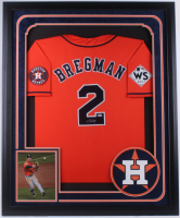 Alex Bregman Signed Astros 36x43 Custom Framed World Series Jersey (Beckett COA) at PristineAuction.com