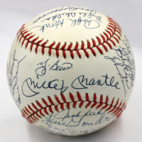 1961 Yankees OAL Baseball Team-Signed by (33) with Yogi Berra, Mickey Mantle, Whitey Ford (JSA LOA) at PristineAuction.com