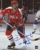 "Dennis Maruk Signed Capitals 8x10 Photo Inscribed ""60 Goals"" & ""1981"" (COJO COA) at PristineAuction.com"