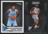 Lot of (2) Basketball Rookie Cards with 2019-20 Donruss #202 Ja Morant RC & 2019-20 Panini Prizm Draft Picks #1 Zion Williamson at PristineAuction.com