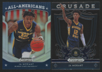 Lot of (2) Ja Morant Basketball Cards with 2019-20 Panini Prizm Draft Picks #11 Crusade & 2019-20 Panini Prizm Draft Picks #44 All-American Silver at PristineAuction.com