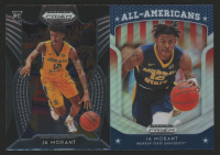 Lot of (2) Ja Morant Basketball Cards with 2019-20 Panini Prizm Draft Picks #65 & 2019-20 Panini Prizm Draft Picks #44 All-American Silver at PristineAuction.com