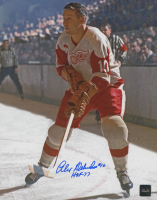 "Alex Delvecchio Signed Red Wings 8x10 Photo Inscribed ""HOF - 77"" (COJO COA) at PristineAuction.com"