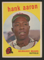 Hank Aaron 1959 Topps #380 at PristineAuction.com