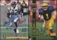 Lot of (2) Autograph Football Cards with Derrick Alexander 1994 Signature Rookies #3 & Qadry Ismail 1994 Pro Line Live #65 at PristineAuction.com