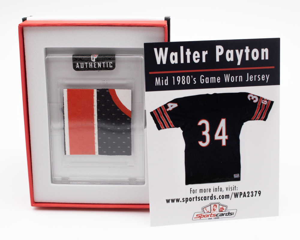 WALTER PAYTON 1980'S CHICAGO BEARS GAME-WORN JERSEY SWATCH MYSTERY BOX! at PristineAuction.com