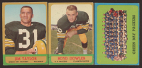 Lot of (3) 1963 Topps Football Cards with Jim Taylor #87, Boyd Dowler #88 & Green Bay Packers #97 at PristineAuction.com