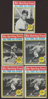 Lot of (5) 1976 Topps Baseball Cards with (3) Ty Cobb #346 ATG, (1) Lou Gehrig #341 ATG & (1) Ted Wiliams #347 ATG at PristineAuction.com