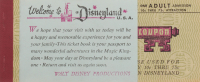 Vintage Disneyland Ticket Booklet at PristineAuction.com