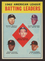 1963 Topps #2 AL Batting Leaders Pete Runnels / Mickey Mantle / Floyd Robinson / Norm Siebern / Chuck Hinton at PristineAuction.com