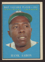 Hank Aaron 1961 Topps #484 MVP at PristineAuction.com
