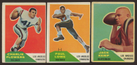 Lot of (3) 1960 Fleer Football Cards with Paul Lowe #76 RC, Jack Kemp #124 RC & Charlie Flowers #102 RC at PristineAuction.com