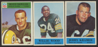 Lot of (3) Philadelphia Football Cards with Boyd Dowler 1966 #84, Jerry Kramer 1964 #76 & Willie Wood 1964 #82 at PristineAuction.com