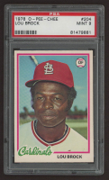 Lou Brock 1978 O-Pee-Chee #204 (PSA 9) at PristineAuction.com