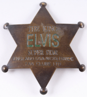 Elvis Presley Brass Fan Club Badge at PristineAuction.com