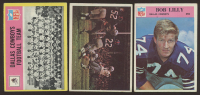 Lot of (3) Philadelphia Football Cards with Bob Lilly 1966 #60, Dallas Cowboys Play 1966 #65 & Dallas Cowboys 1967 #49 at PristineAuction.com
