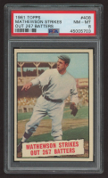 Christy Mathewson 1961 Topps #408 K's SP (PSA 8) at PristineAuction.com