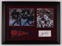 Walter Payton Signed Bears 15x20 Custom Framed Cut Display (PSA) at PristineAuction.com