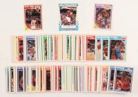 Complete Set of (168) 1989-90 Fleer Basketball Cards with Complete Sticker Set including Michael Jordan #21, Earvin Johnson #77, Michael Jordan Sticker #3 at PristineAuction.com