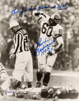 "Chuck Bednarik Signed Eagles 8x10 Photo Inscribed  ""This F***** Game Is Over"" & ""HOF 67"" (PSA COA) at PristineAuction.com"